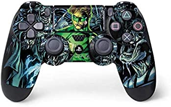 Skinit Decal Gaming Skin for PS4 Controller - Officially Licensed Warner Bros Green Lantern and Villains Design