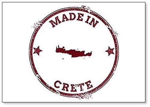 Kreta Seal. Vintage Island Map Illustration Koelkast Magneet
