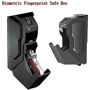 DBGS Arma Cajas Fuertes biométrico de Huellas Digitales y Piezas de Bloqueo de Teclas Pistola Caja Fuerte con Acero Armas de Seguridad de Huellas Dactilares Fuerte: Amazon.es: Hogar