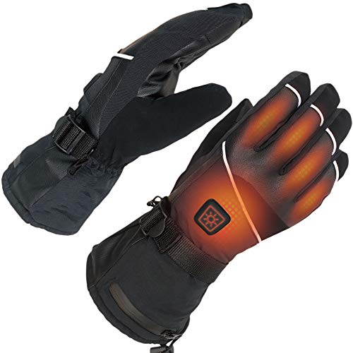 sticro Electric Heated Gloves for Men Women Rechargeable Battery Waterproof Windproof Winter Hands Warmer for Motorcycling Hiking Climbing Outdoor Activities