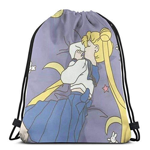 xinping Bolsa clásica con cordón, mochila de gimnasio, bolsa de almacenamiento de deporte, para hombre y mujer