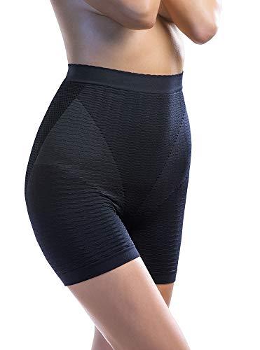 Intimidea Pantaloncino Massaggiante Effetto Anticellulite Extra-Comfort [Nero, Tg. M/L]