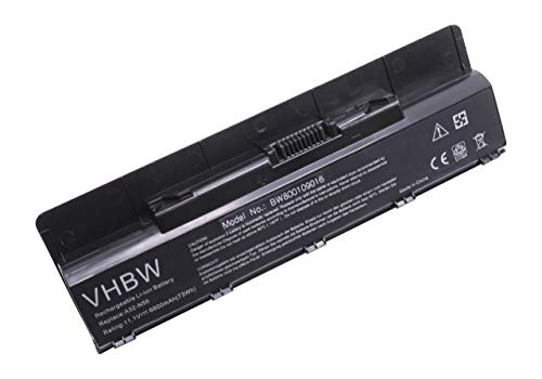 Batterie Li-ION vhbw 6600mAh (10.8V) pour Ordinateur Portable, Notebook ASUS N76, N76V, N76VJ, N76VM, N76VZ. Remplace: A32-N56, A33-N56, A31-N56.