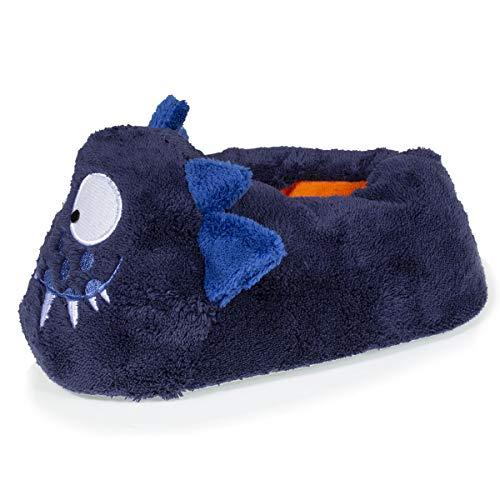Isotoner Monster 3D Slippers for Boys Blue Size: 10.5/11 UK Child
