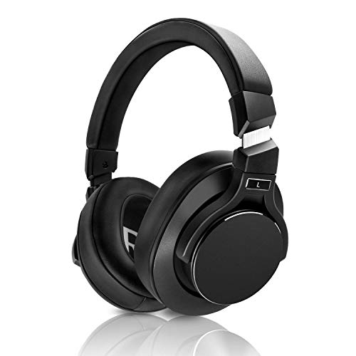 Mixcder E8 Auriculares Bluetooth Cancelación Activa de Ruido con Micrófono, Cascos Inalámbricos de Diadema, Plegable con Estéreo, Deep Bass, Diseño Portátil, para iPhone, Android, PC, TV-Negro