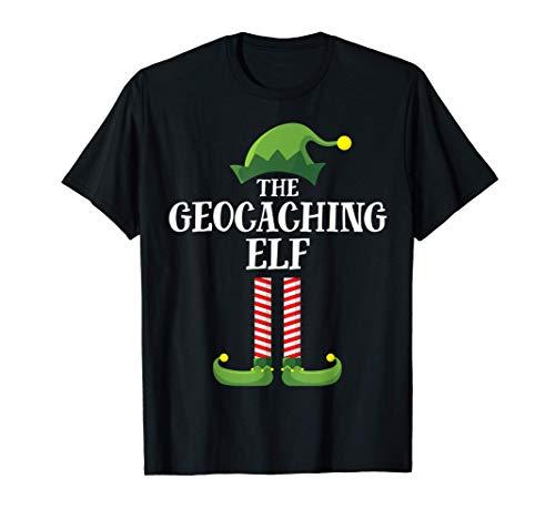 Geocaching Elf Matching Family Group Christmas Party Pajama Camiseta