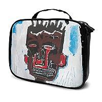 ジャン ミシェル バスキJean Michel Basqui-1 化粧ポーチ メイクボックス 高品質 機能的 大容量 防水 仕切り 化粧ポーチ メイクブラシバッグ 収納ケース スーツケース 多機能 旅行用 おしゃれ 持ち運び 收納抜群 メイクポーチ
