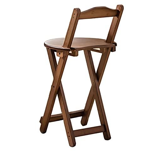 Taburetes de bar con respaldo, taburetes altos plegables para sala de estar, sillas de bar de madera maciza taburetes de bar de restaurante en casa minimalista moderno (varios estilos están disponi