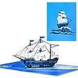 Magic Ants 3D Pirate Ship Pop Up Card, 3D...