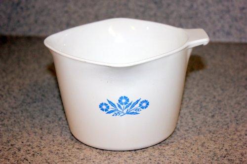 Vintage Corning Ware – Cornflower / Corn Flower – 1 Quart / 4 Cup / 32 Oz. Sauce Maker Measuring Mixing Batter Bowl