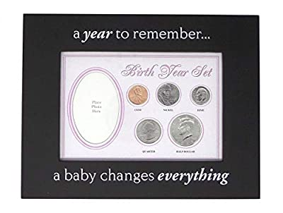 2019 - Birth Year Coin Set in Pink Baby Picture Frame Holder Uncirculated