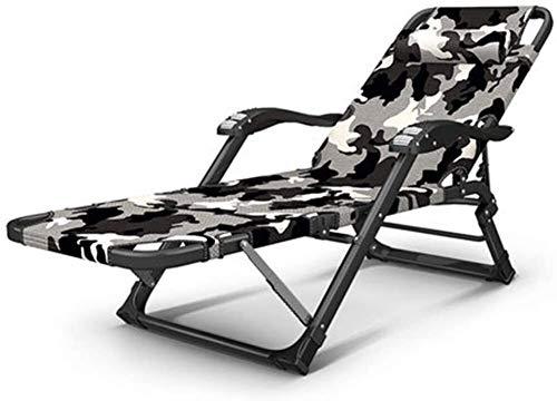 Plegables jardín Tumbona reclinable Tumbona Oxford 1200D silla que acampa Tumbona con 5 Volver la pierna 10 posiciones ajustables Apoyabrazos de playa al aire libre que acampan días de campo a pie de