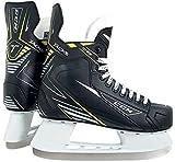 CCM New Tacks 1092 Junior Ice Hockey Skates Black/Yellow JR 4.0 D Size 11