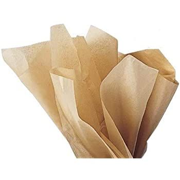 100 Sheets Parchment Beige Tissue Paper 15 Inch x 20 Inch