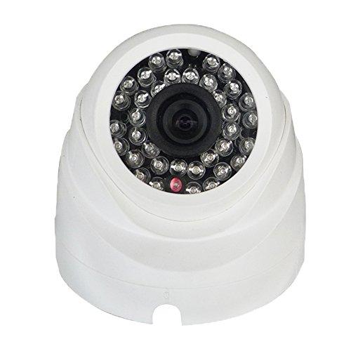 Kobert-Goods P2F18-IP, P2F18-IP, bewakingscamera voor binnen, met infrarood nachtzicht tot 20 meter, IR LED, spionagecamera, SpyCam met hoge resolutie van Indoor POE IP-camera