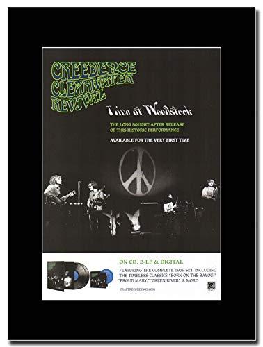 gasolinerainbows - Creedence Clearwater Revival - Live at Woodstock - Illustration de Magazine sur Une Monture Noire - Matted Mounted Magazine Promotional Artwork on a Black Mount