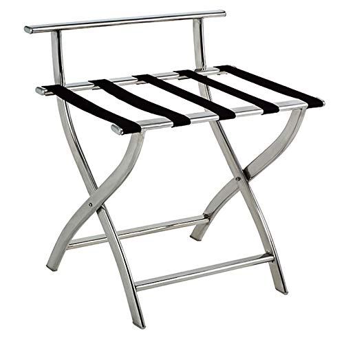 Fantastic Prices! ZCCXLJ Hotel Luggage Rack Stainless Steel Luggage Chair Folding Shelf Hotel Room w...
