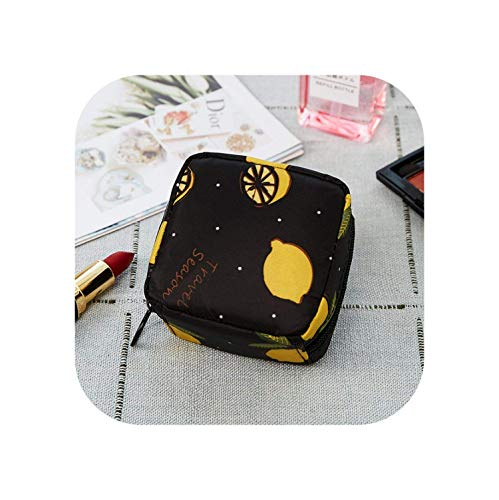 ZWWZ Kosmetische Beutel for 1 PC Mini Solid Color Cosmetic Bag Cactus Travel Kulturaufbewahrungstasche Schönheit Make-up-Beutel-Kosmetik-Beutel-Organisator -1- HAIKE (Color : Lemon, Size : Size)