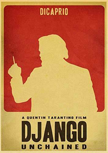 Quentin Tarantino Serie Film Django Unchained Poster Kraftpapier Druck Wandkunst, Vintage Poster, Heimdekoration, E082, 30 x 21 cm