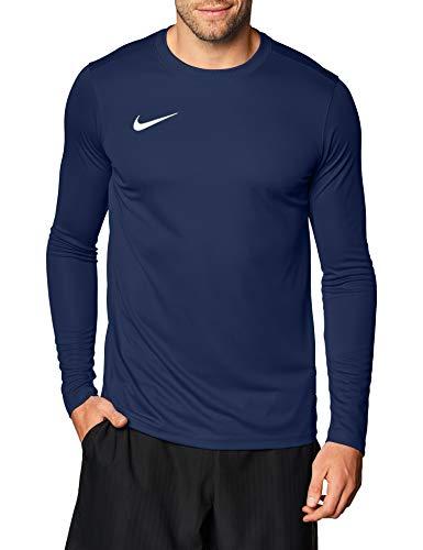 Nike Herren Langarm-Trikot Dry Park VII, Midnight Navy/White, L, BV6706-410