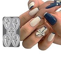 Coxeer エポキシ金型3Dクラフト金型おかしい蝶ネクタイ金型ゼリー鋳造金型ネイル装飾用シリコーン金型