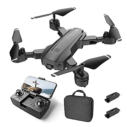GAOFQ Drone Optical Flow Positioning RC Quadcopter con cámara 4K HD, Modo sin Cabeza de retención de altitud, Drones FPV Plegables WiFi Video en Vivo Volteos 3D Easy Fly Steady to Learn (Negro)