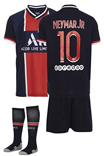 AMD SPORTS Paris 2020-21 Home Maillots de Football pour Enfants Mbappe avec des Chaussettes Et des Shorts, (Tailles Enfants 2-14 Ans)… (Mbappe Home, 140)