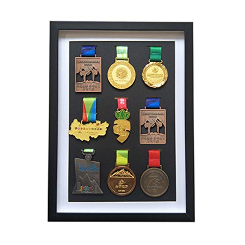 XXCC Medal Display Frame,Picture Framing Direct Silver Deep Box Frame To Display War/Military/Sports Medals