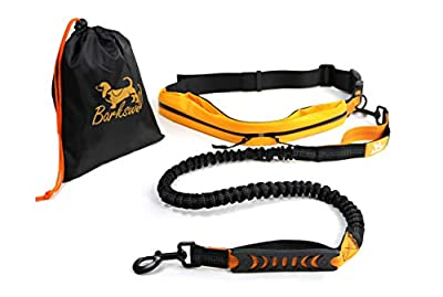 Barkswell Hands Free Running Dog Lead/Dog Walking Belt Reflective with Double Sided Lined Pouch - Up to 60 Kg - Great for Handsfree Running, Jogging or Walking … from Barkswell
