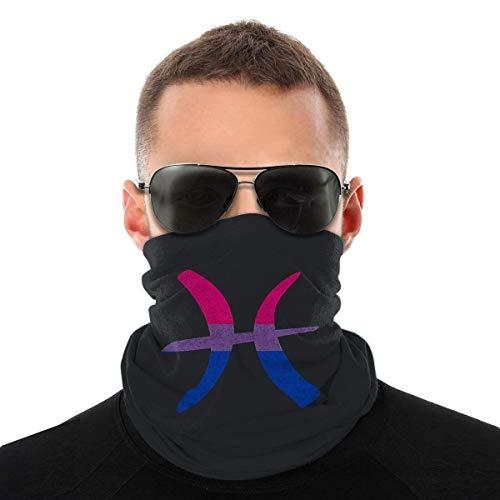 Nother Máscara antiviento con bandera bisexual Piscis Zodíaco, máscara antipolvo, lavable, doble impresión
