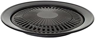 Bright Spark 1-Piece 32 Cm Diameter Powder Coated Steel Non-Stick Grill Plate, Grey