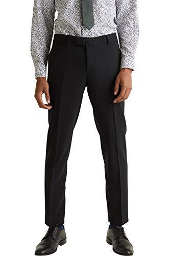 ESPRIT Collection Herren 990EO2B301 Anzughose, Schwarz (Black 001), W(Herstellergröße:52)