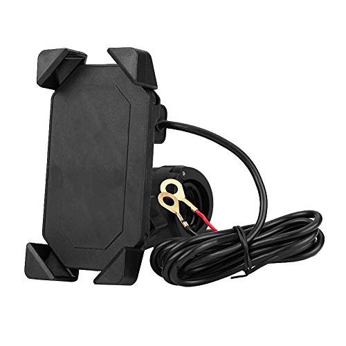 Soporte de carga para motocicleta, soporte universal ajustable para motocicleta de 360 grados, para bicicleta de viaje, vehículo eléctrico