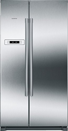 Siemens KA90NVI20 iQ300 Side-by-Side / A+ / 177 cm Höhe / 373 Liter Kühlteil / 200 Liter Gefrierteil / no-Frost-Technik gegen Eis- und Reifbildung / superFreezing / antiFingerprint / MultiAirflow-System