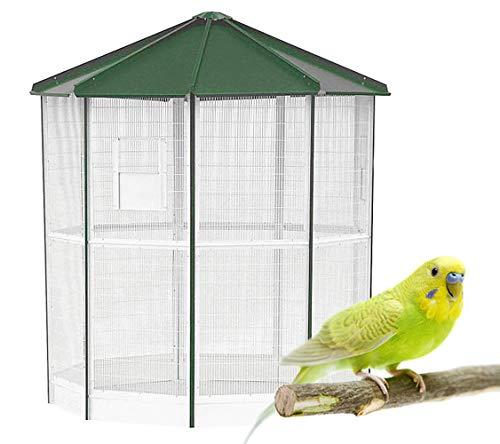 Jaula Voladero para pequeñas Aves - Voladero Manaos de 9 Lados - Ideal para Parques y Jardines