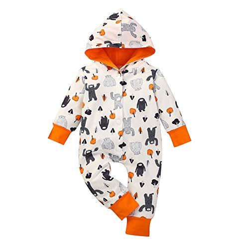 MRULIC Neugeborenes Baby Jumpsuit Outfit Dinosaurier Reißverschluss mit Kapuze Spielanzug Overall Outfit Kleidung Niedlicher Babyschlafsack Onesies Herbst und Wintermodelle(X1-Grau,95-100CM)