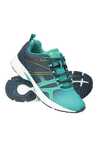 Mountain Warehouse Speed Up Tech Damen-Trainer – Damenschuhe mit Leichter Laufsohle, atmungsaktive Schuhe, bequem – ideal für Fitness, Sport, Wandern, Laufen Blau 40 EU