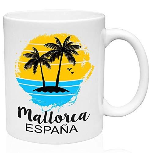N\A Taza de café de cerámica de 11 oz de Mallorca España
