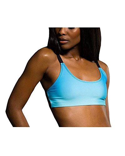 Onzie Graphic Elastic Back Bra 382 Indian Blue Ombre (Indian Blue Ombre, Small/Medium)