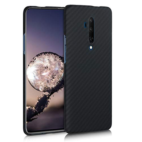 kalibri Hülle kompatibel mit OnePlus 7T Pro - Aramid Handy Schutzhülle - Cover Case Handyhülle Schwarz matt