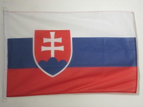AZ FLAG Flagge SLOWAKEI 90x60cm - SLOWAKISCHE Fahne 60 x 90 cm Aussenverwendung - flaggen Top Qualität