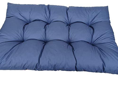 Sitzkissen 120x60x15 für Standardpaletten und passt für die meisten Palettensätze Dieser Art. Hergestellt aus hochwertigen Materialien/Baumwolle + granuliertem Polyurethanschaum. (Marinblau)