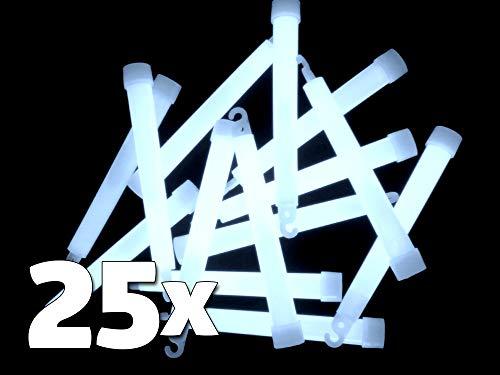 25 Power Knicklichter 150x15 mm WEISS