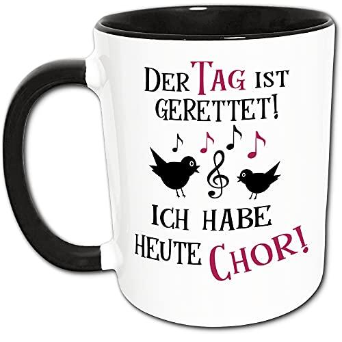 Chor Geschenk Tasse mit Spruch - Chor Mitglied Geschenk - Chor Sängerin Geschenk, Chorleiterin Geschenk - Singen - Musik - Noten - Notenschlüssel