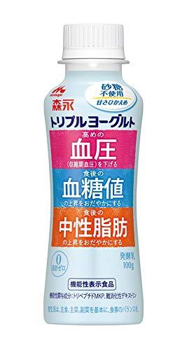 森永乳業 トリプルヨーグルト砂糖不使用 ドリンクタイプ 100g×12本