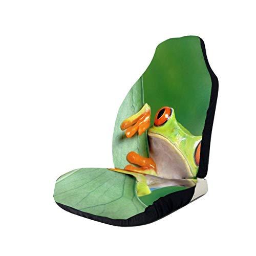 JONINOT 2 Paquetes de Protectores de Fundas para Asiento de Coche Nature Frog Grip Control Asientos Delanteros Bajos Protectores de Asiento Universal Fit