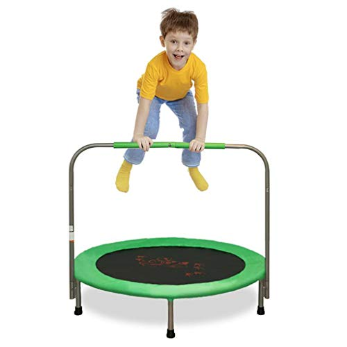Mini Trampoline for Kids with Handle, Kids Trampoline for Play & Exercise Indoor or Outdoor, Safty Padded Cover Toddler Rebounder Trampoline for Jump Sports
