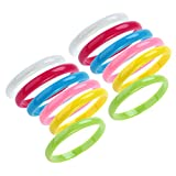 STOBOK Plastic Bangle Cute Candy Color Bracelets Party Favors Plastic Jewelry for Child Women Girl Gift for Christmas 12pcs/Set