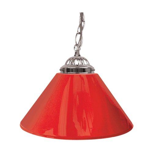"Trademark Gameroom Red Single Shade Gameroom Lamp, 14"" (Silver Hardware)"