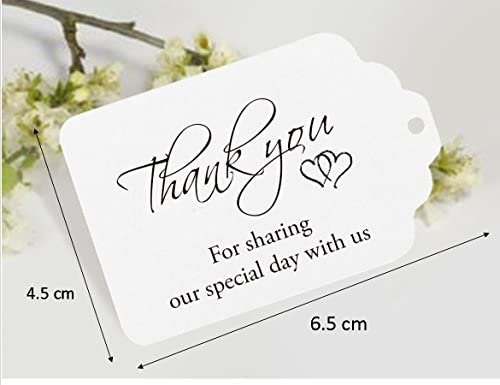 chocolatesmessages .Thank you for sharing our special day 10 BROWN WEDDING FAVOUR thank you envelopes with string